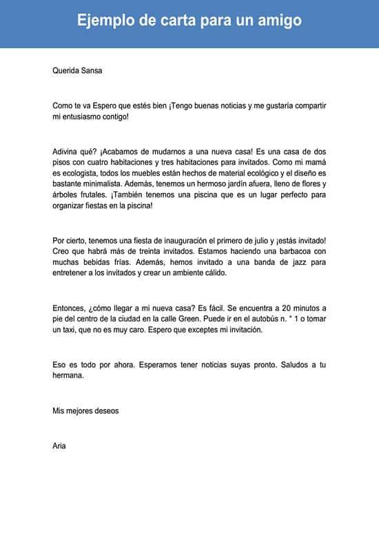 Carta para un amigo