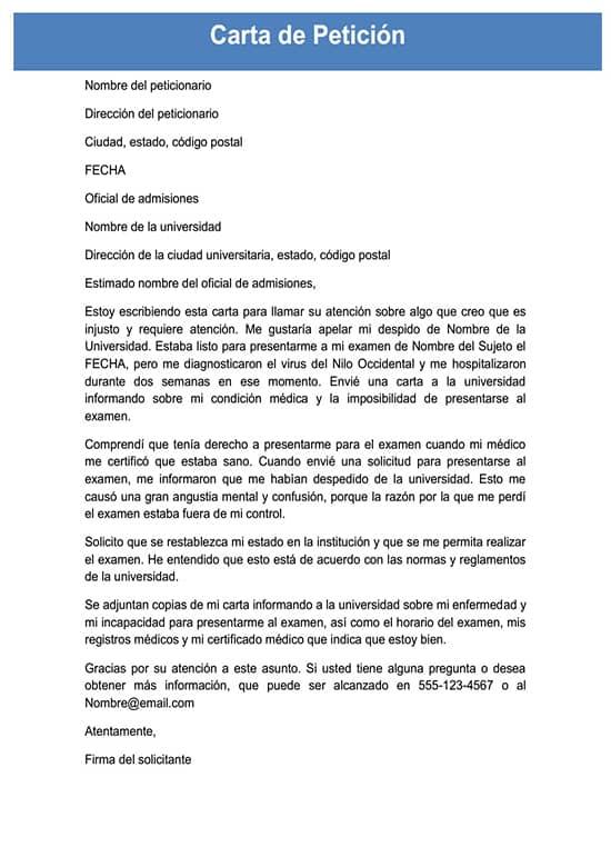 Carta De Petición