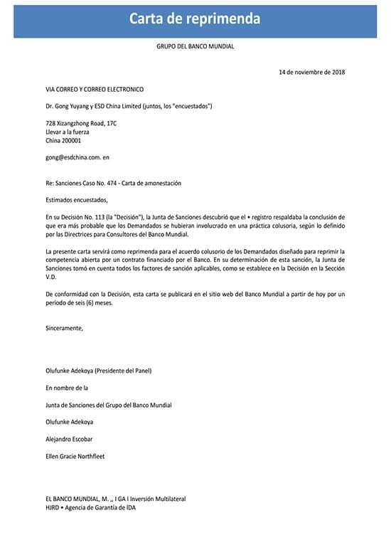Carta De Reprimenda