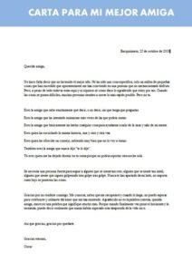 carta para mi mejor amiga