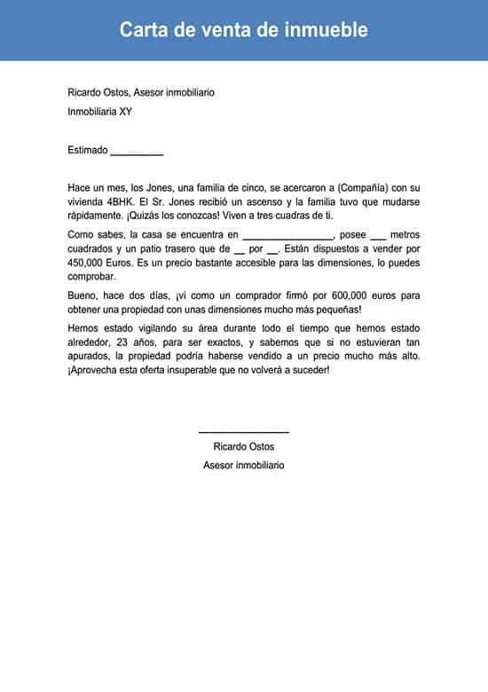 Carta De Venta De Inmueble