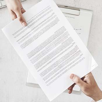 Cómo hacer una carta de recibo de documentos