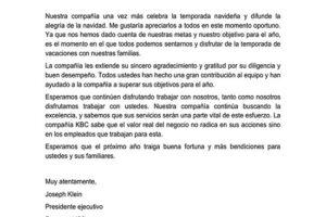 Carta De Recibo De Aguinaldo