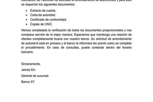 Carta De Recibo De Documentos