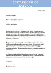 carta de despido laboral