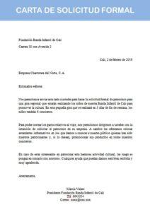 carta de solicitud formal