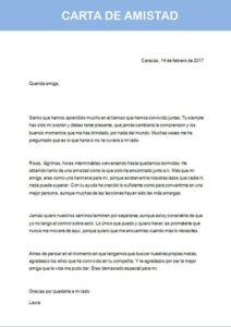 carta de amistad